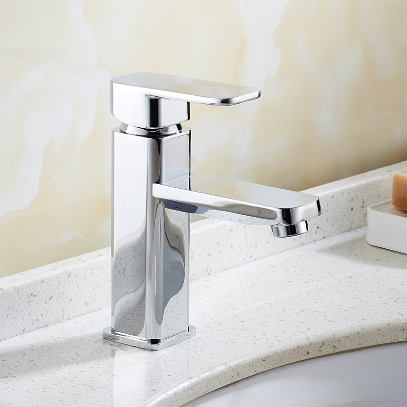 Free Shipping Luxury basin faucet high quality square water tap chrome single lever hot and cold bathroom basin sink mixer hpb square style tall basin faucet water tap chrome finished bathroom sink mixer single handle hot and cold hp3132