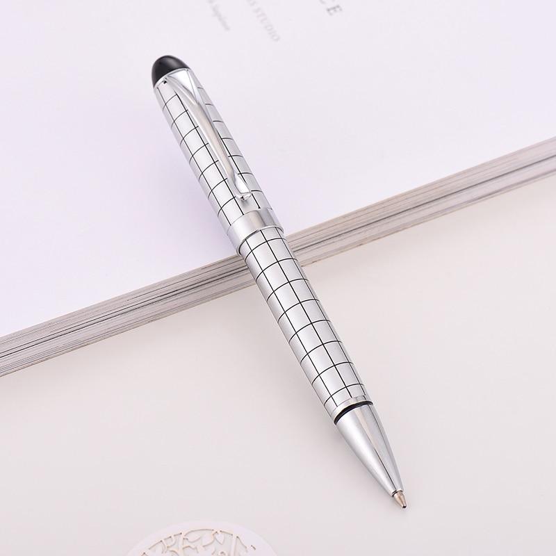 Baoer-415-Checke-Oil-Pen-0-5MM-Black-Pen-Ballpoint-Pen-High-Quality-Gift-Ball-Pen(2)