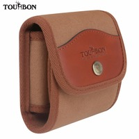 Tourbon Tactical Ammo Pouch Bag Cartridge Holder Rifle Bullet Carrier Canvas & Leather Belt for Hunting Shooting Accessories