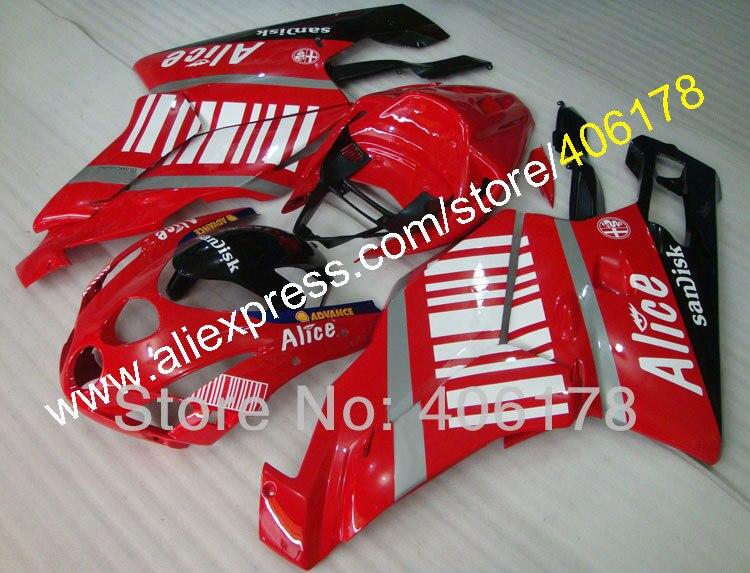 Hot Vendas, Fullset motocicleta 999 vs 749 03 04 kit Carenagem Para a Ducati 999 749 2003 2004 Carenagens de Alice (moldagem por injeção)