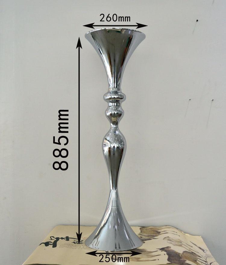 88cm visok srebrni cvijet vaza / cvijet europskog stila dekoracija - Za blagdane i zabave - Foto 1