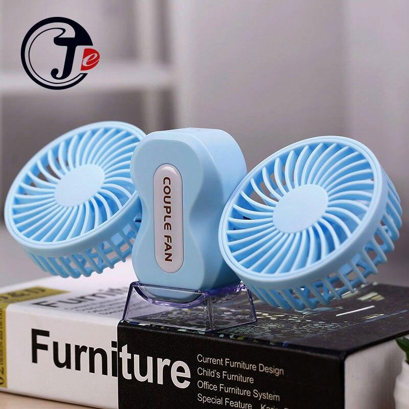 Motores 2 Casais Verão Ar Condicionado Ventilador Recarregável Li Bateria Fãs Mini Ventilador Portátil USB Ventilador de Ar Condicionado