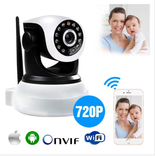 Buy P2P Pan Tilt IP Camera Wireless Security HD 720P ONVIF Audio Network Infrared IP Cam Night Vision WiFi Webcam Support 64G wireless ip camera hd 720p megapixel wifi camera home security cameras support tf sd card indoor two audio pan tilt p2p ip cam