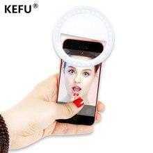 Luxury Universal LED Flash Light Up Selfie Luminous Phone Ring For iPhone 6 6S Plus LG Samsung For Xiaomi Huawei Lenovo Oneplus