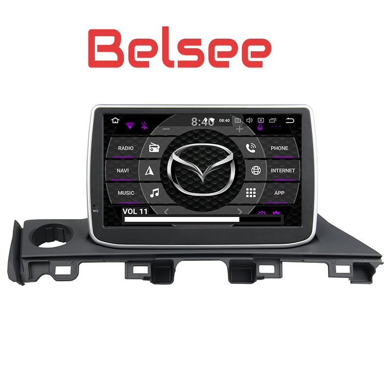 Belsee Android 8.0 Auto Head Unit Car Radio Stereo Carplay GPS Navigation System for Mazda 6 Atenza 2016 2017 Octa Core 4+32GB