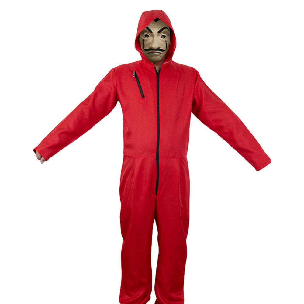 La casa de papel Money Heist Dali Halloween Jumpsuit Cosplay Costume Halloween Carnival Costumes