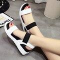 2017 Novas Mulheres sapatos de Verão sandálias Das Mulheres peep-toe Sapatos baixos sandálias Romanas sapatos mulher sandalias mujer sandalias 810 W