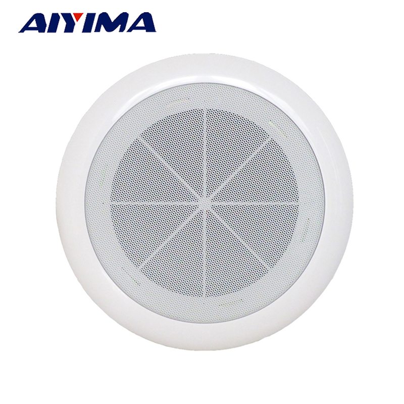 AIYIMA 5/6inch Ceiling Wall Audio Speaker 3-10W Professional Background Loudspeaker Music Public Broadcasting Ceiling Speakers