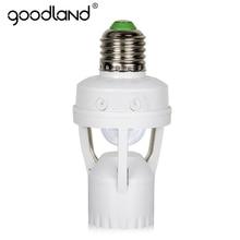 Goodland e27 소켓 60 w e27 led 램프 홀더 pir 모션 센서 110 v 220 v 적외선 유도 e27 lampholder 전구