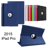Nowy Obrotowy 360 Stopni Luksusowe Folio Stojak Obrotowy Skórzany Skóry case Pokrowiec Ochronny Dla Apple iPad Pro/iPad Plus 12.9