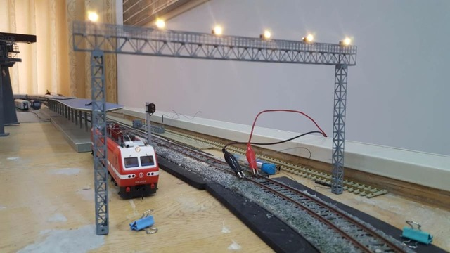 1/87 Model Train ho scale diy lighthouse copper chandelier