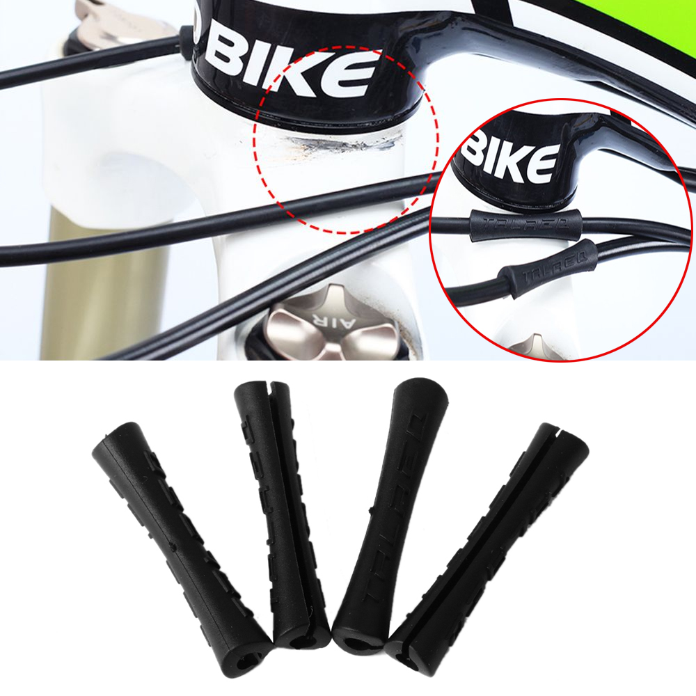 Bicycle Sleeve Rubber Cabler For Shift Brake Line Pipe Ultralight MTB Bike Frame Protection Cable Guides Bicycle 8pcs/lot
