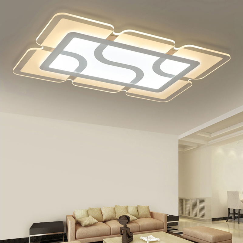eusolis 110 220v ultra thin transparent crystal light led ceiling light plafonnier led moderne. Black Bedroom Furniture Sets. Home Design Ideas