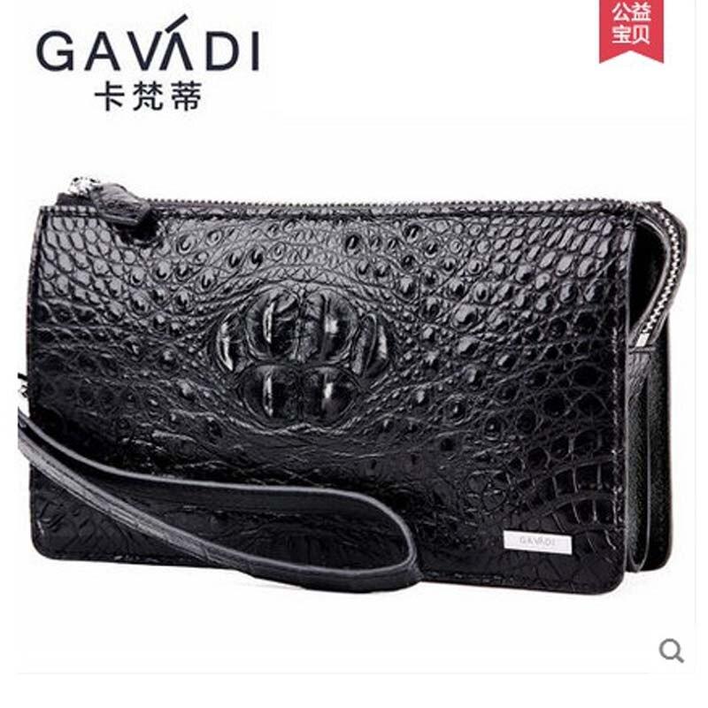 Kafandi krokodillenleer heren handtas heren portemonnee zakenman tas - Handtassen