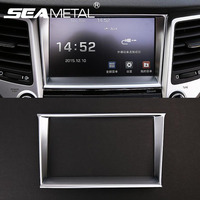 Car Styling Center Console Control Navigation Decorative Cover Frame ABS Trim Accessories For Hyundai Tucson 3rd
