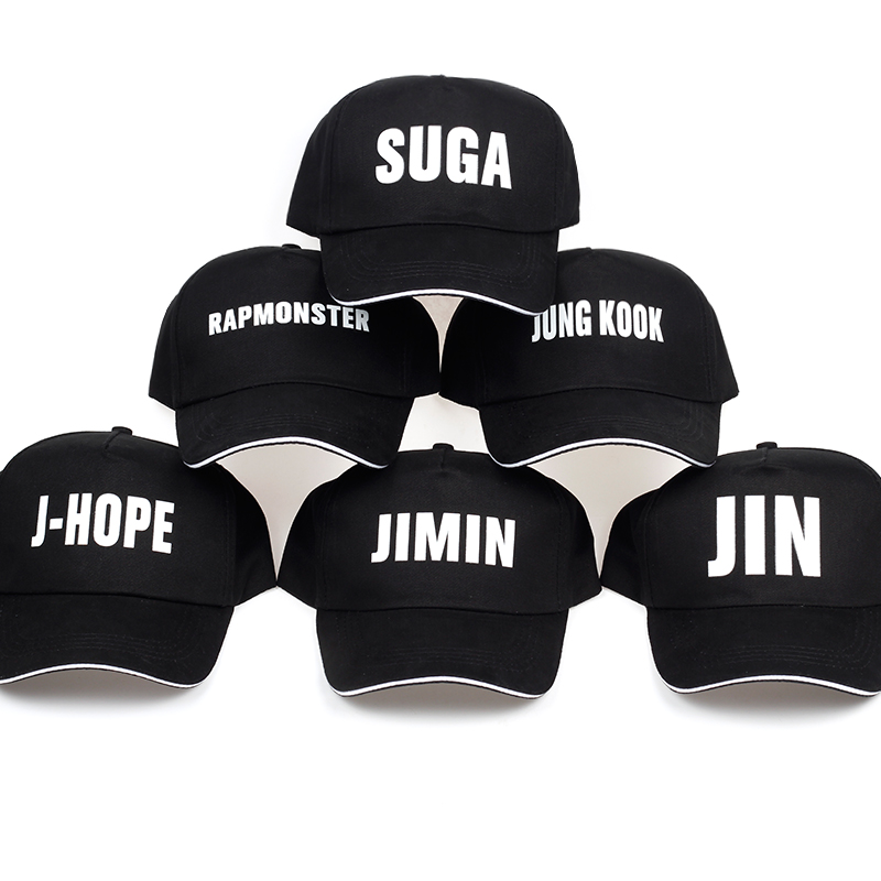 2018 KPOP BTS Bangtan Boys New Album Love Yourself WINGS Young Forever AMRY Logo Black Baseball Cap Hip-hop Cap Men Women Hats jang gi ha and faces 4th album vol 4 release date 2016 06 17 kpop