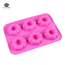 2017 New The Kitchen Gadget Baking Mold Silicone Form 6 Doughnut Mode DIY Manual Baking Cake Pastry Decoration Tools