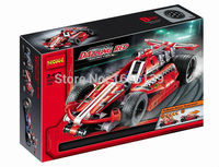 2015 New Hot Sale Decool 3412 Warrior Dazzing Red Racer Pull Back Technic Car Building Block