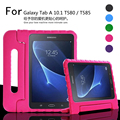 For Galaxy Tab A 10.1 T580 / T585 Portable Kids drop resistance EVA mount stand hand held handle back case cover