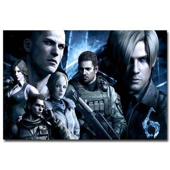 Шелковый Плакат Обитель зла Resident Evil 6 в ассортименте