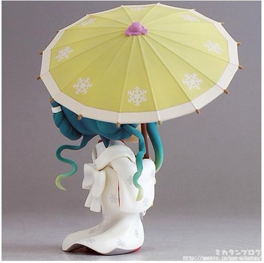 Hatsune Miku umbrella Q version Anime Collectible Action Figure PVC toys for christmas gift with retail box free shipping