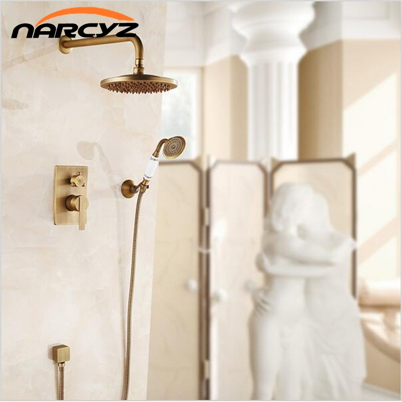 NEW Concealed Shower Faucet Set Single Handle 8 Rainfall Shower Mixers with Ceramic Brass Hand Shower