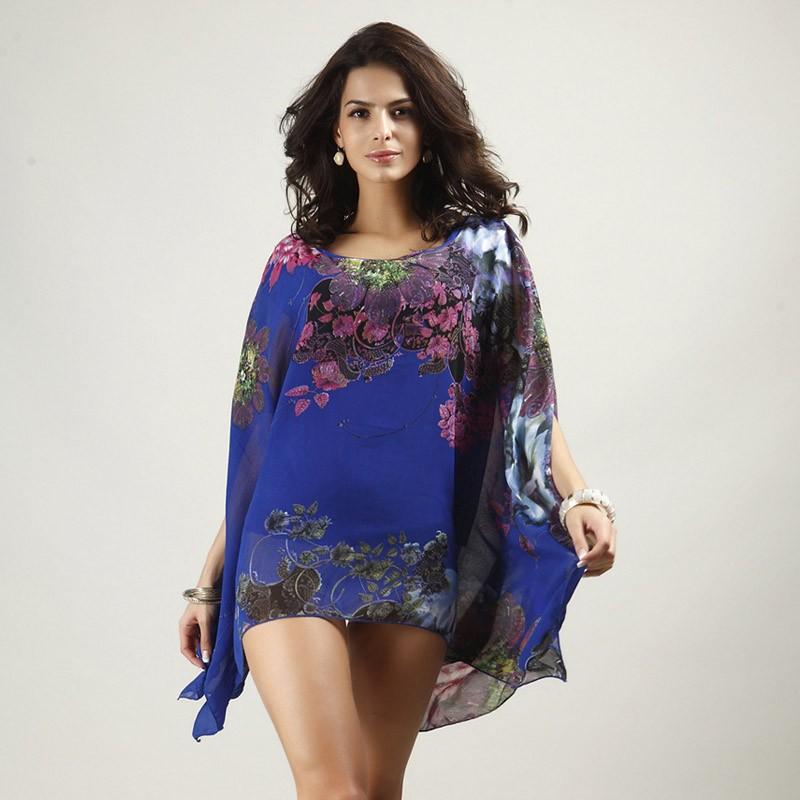 HTB1HgJSLXXXXXamXVXXq6xXFXXXc - Boho Batwing Sleeve Chiffon Blouse Women Casual Floral Kimono Shirts