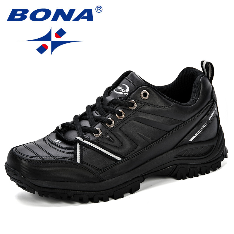BONA  2018 New Mens Hiking Boots Krasovki Tactical Shoes Breathable Outdoor Comfortable Non Slip Hiking Shoes Men Mountain Shoes-in Hiking Shoes from Sports & Entertainment    3