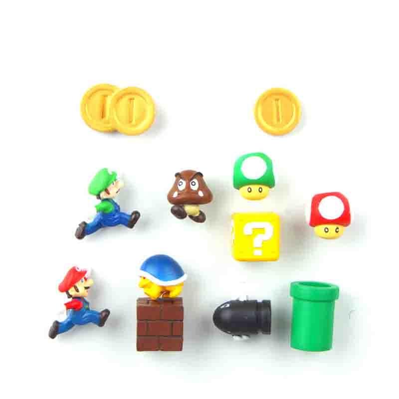 8 12 17 19 22 63pcs 3D Super Mario Luigi Fridge Magnets Refrigerator Message Sticker Home decora Children Toys Birthday Gift in Fridge Magnets from Home Garden
