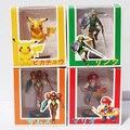Metroid Samus Aran Legend of Zelda Enlace Super Mario Bros. Mario Pikachu 4 unids/set PVC figura de Acción de Colección Modelo de Juguete