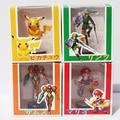 Metroid Samus Aran Legend of Zelda Link Super Mario Bros. Mario Pikachu 4pcs/set PVC Action Collection Model Toy