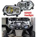 RZR900 Par ATV UTV Acessórios Projetor de Luz Do Farol LEVOU Farol Kit + cartão de recompensas ponto para Polaris Ranger X Lado a Lado os lados