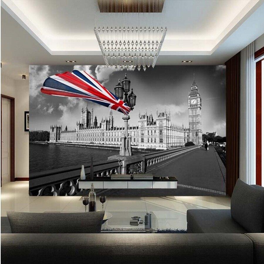 Wonderful Beibehang Custom Wall Paper 3d Wallpaper Bar Modern Personalized Retro  Nostalgia London Wall Mural Wallpaper For