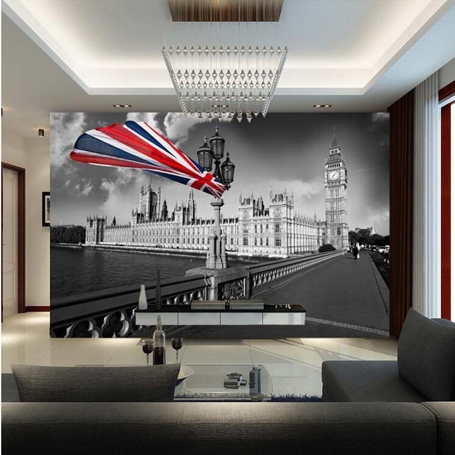 Beibehang Custom Wall Paper 3d Wallpaper Bar Modern Personalized Retro Nostalgia London Mural For
