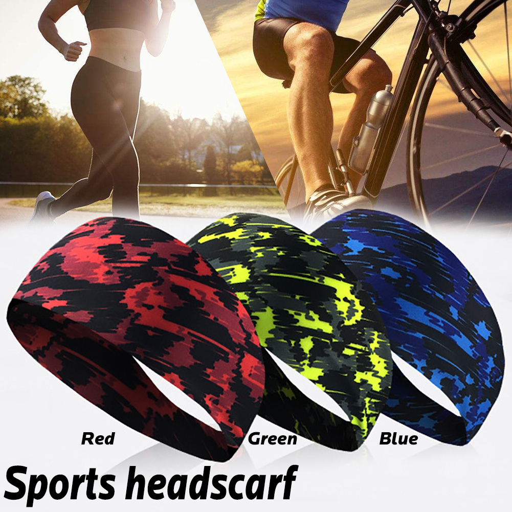 Elastic Sport Headband Fitness Yoga Sweatband Outdoor Gym Running Tennis Basketball Wide Hair Bands Athletic Men Women