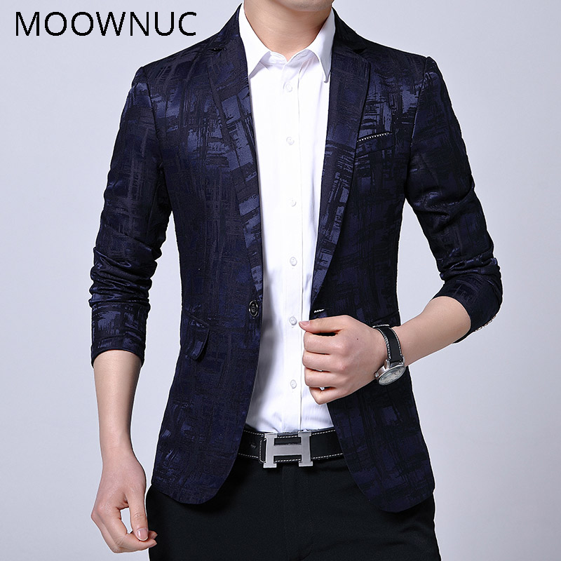 Blazers Smart Casual Stage Costumes Groomsman Black Casual Suits Blazers Men Fashion Coats Wedding Brand Autumn Male MOOWNUC