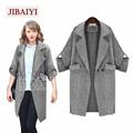 American Turn Down Collar Long Outerwear Women Trench Coats Fashion Cardigans Female Big Size Maxi Lady Costumes Thin Loose Coat