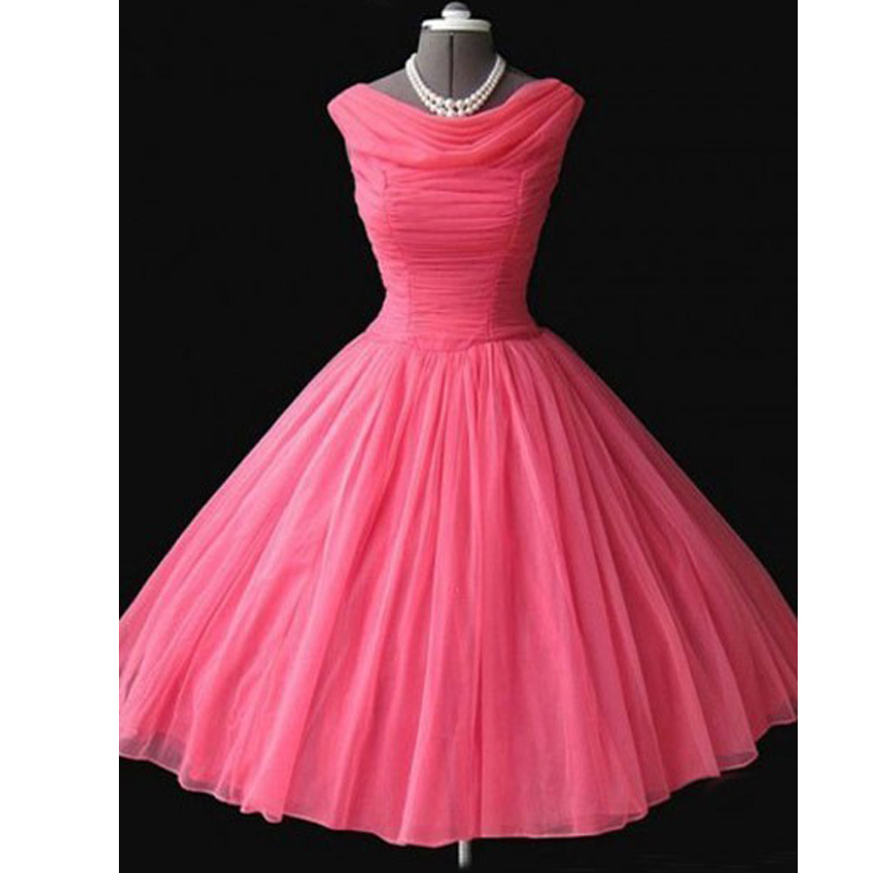 2017 Real Photo Vintage 1950s Prom Dresses Ball Gowns Tea Length ...