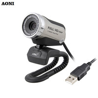 AONI Webcam Megapixel 1080P HD Computer Cameras With Built-in Noise reduction MIC USB Plug and Play Web Cams For Smart Display