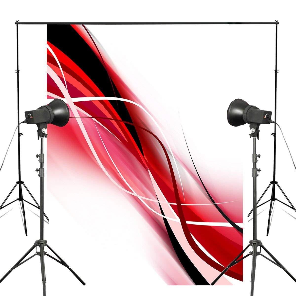 Us 20 36 Exquisite White Photography Backdrop Abstract Black Red Line Wallpaper Background Art Photo Studio Background Wall 5x7ft In Photo Studio