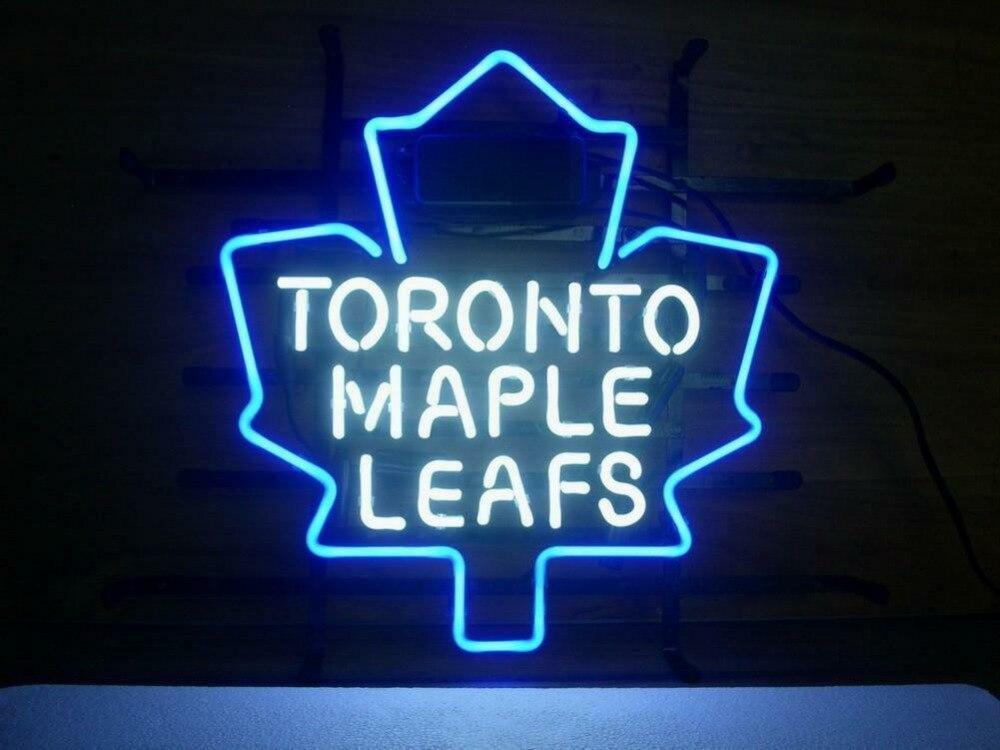 Toronto Maple Leafs di Vetro Luce Al Neon Della Birra BarToronto Maple Leafs di Vetro Luce Al Neon Della Birra Bar
