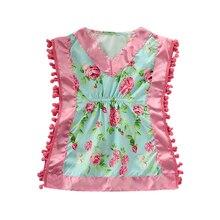 Pudcoco/Ночная рубашка с цветочным рисунком для маленьких девочек, пижама без рукавов, одежда для сна, ночная рубашка, летняя одежда