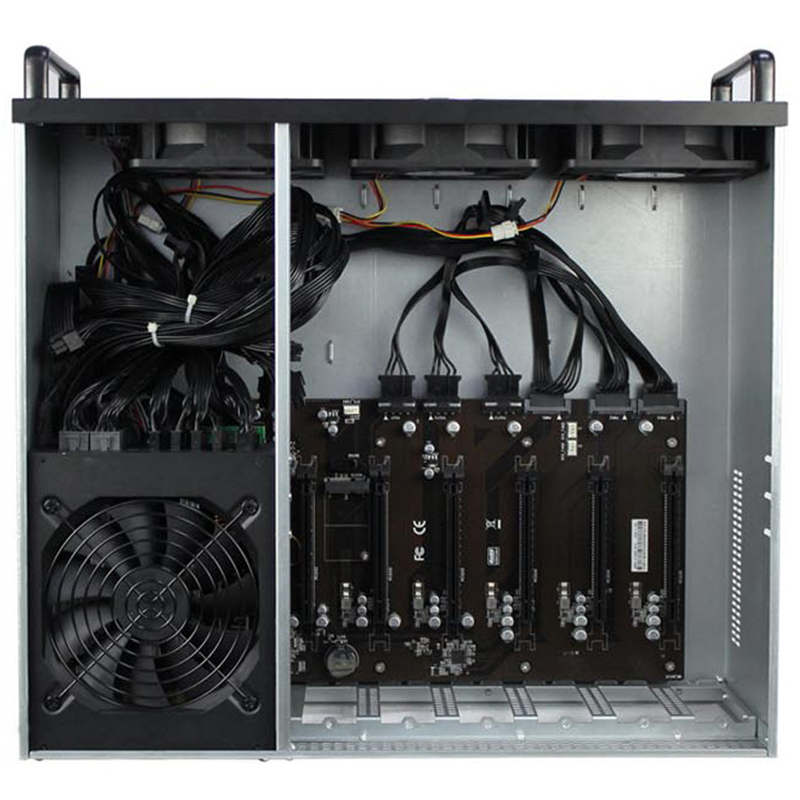 Us 512 81 5 Off Crypto Coin Bitcoin Mining Rig 6gpu Holder Usb Miner Server Rack Computer Chassis Case Frame For Card Gtx 1080 P106 R9 370 Rx480 In -