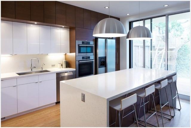 2017 Hot Sales New Design Kitchen Unit Modern Kitchen Furnitures  Manufacturers High Gloss Lacquer Modular Kitchen