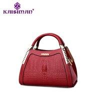 KAISIMAN Casual Embossed Designer Star Models Fashion Crocodile Pattern Big Bag Ladies Handbag Shoulder Messenger Bag