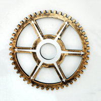Retro Industrial Winds Golden Gear Mural 35cm Bar Art Wall Hook Gear Decoration Gear Wall Creative