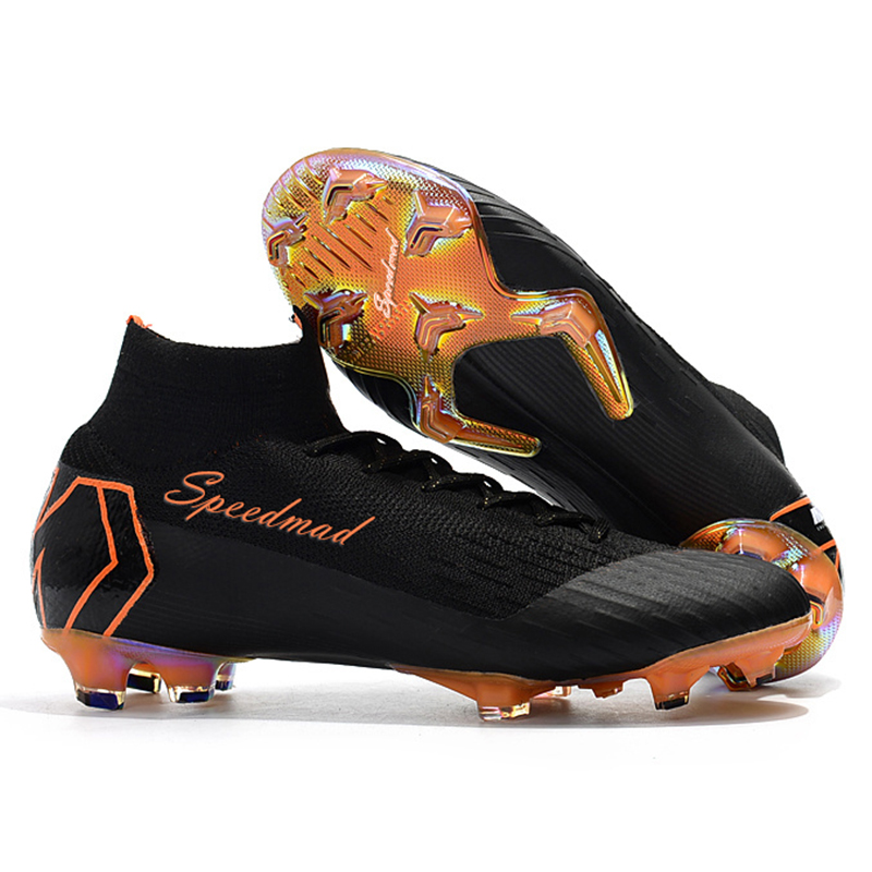 0f06be1e54b7 High Ankle Football Shoes Mens CR7 Cleats FG Superfly VI 360 Elite Soccer  Boots Zapatos De Futbol Hombre Chuteira Futebol 2018-in Soccer Shoes from  Sports ...