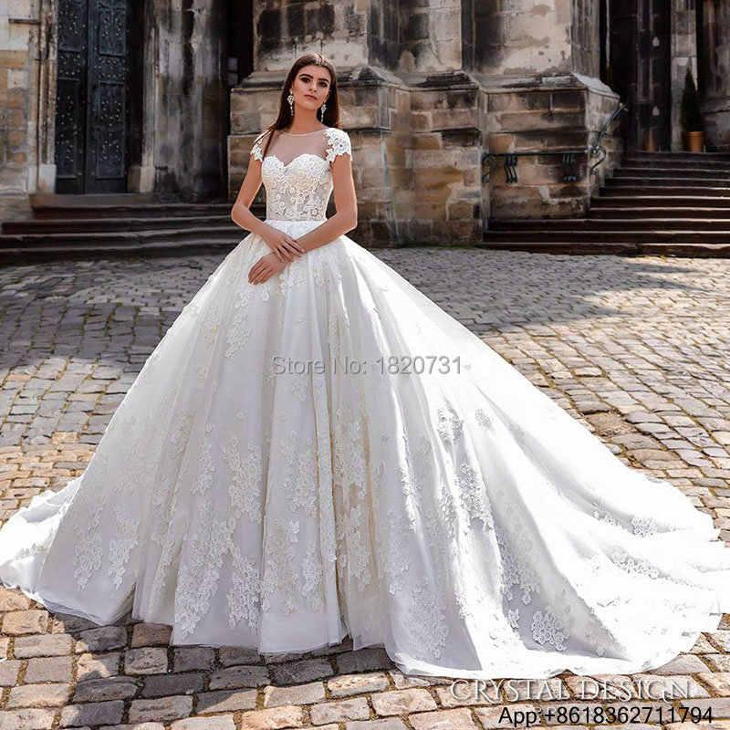 Vestidos De Noiva De Luxo vestido de Noiva Civil vestido de Baile vestido de Princesa Do Laço Do Vintage Vestidos de Noiva Sexy Vestidos de Casamento de Luxo 2019