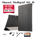 For Huawei to Mediapad M2 tablet thin leather case to 10.0 M2-A10L/W support jacket Case Cover Tablet Cases Custer Tri-Folded