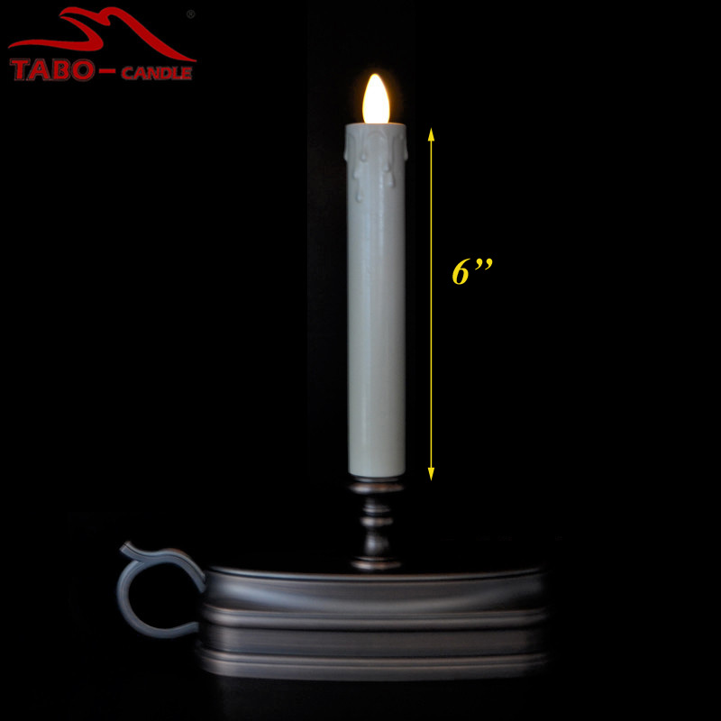 luminara flameless taper candles with timer moving wick fireless taper window candle for halloween decoration